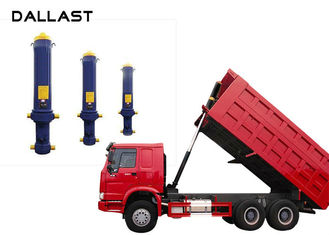 Dump Truck  Single Acting Hydraulic Ram 3 / 4 / 5 Stage Chrome Telescopic