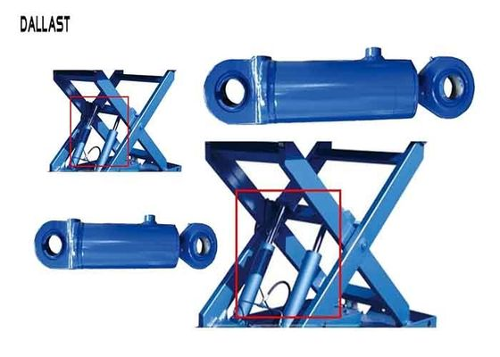 Hydraulic Mobile Scissor Lift Cylinder Double Acting Stroke 600 mm for Industry