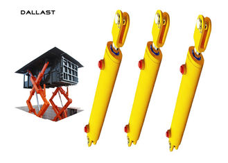 6 Inch Hydraulic Lift Cylinder Hoist Piston Type , Double Acting Telescopic Cylinder