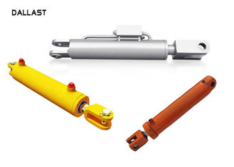 High Pressure Garbage Trucks Welded Double Piston Hydraulic Cylinder Steel Material