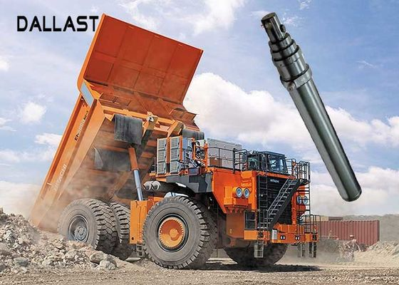 Hydraulic Oil Single Acting Telescopic Cylinder Engineering Machinery Lifting Dump Truck Applied