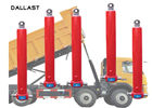 Dump Truck Hydraulic Cylinder 841221000 HS Code  ISO 9001 Certification