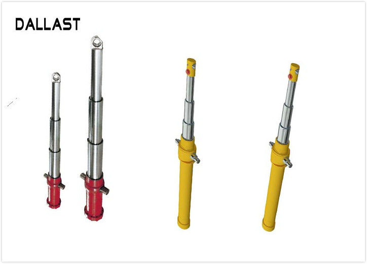 Standard OEM Agricultural Hydraulic Cylinders Multi Stage , Telescoping Hydraulic Ram