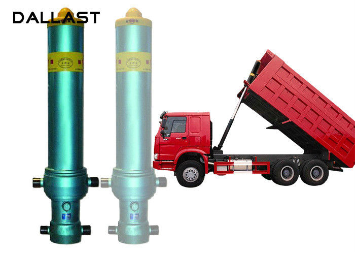 3 4 5 Stage Long Stroke Hydraulic Cylinder Lifting 13 - 90 Ton Dump Truck Tipper