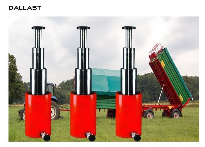 5 Stage Agricultural Hydraulic Cylinders Telescoping Single Acting Tipper