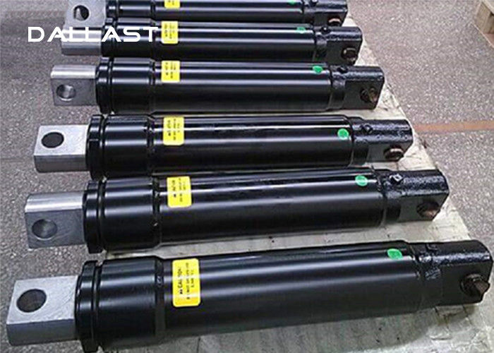 Single Acting Hydraulic Ram Chrome Welded Piston Type , Hydraulic Oil Cylinder