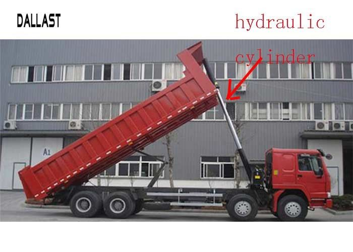 Telescopic Long Stroke Hydraulic Cylinder Trunnion Mounting Style For Semi - Tipper