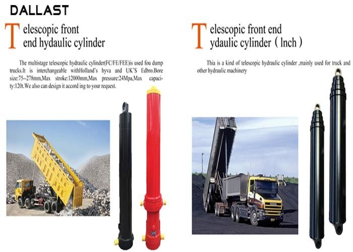 Multi Stage Dump Trailer Hydraulic Cylinder Telescopic Single Acting FE FC Hyva Type