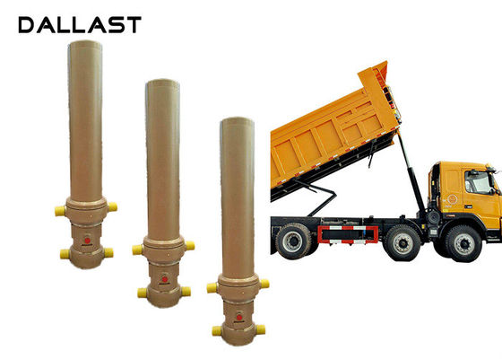 China Telescopic One Way Hydraulic Cylinder Dumper Tipper Trailer TS16949 Certification factory