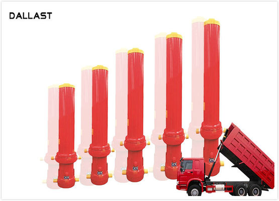 China 10500mm Stroke Single Acting Hydraulic Cylinder for Tipper Truck , Telescoping Hydraulic Ram factory