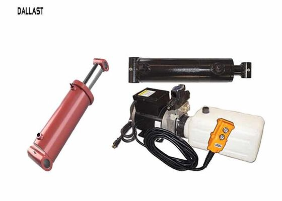 China 12 Volt Hydraulic Power Pack  with 2 Hydraulic Rams Hoses and Fitting Kit with Pendant factory
