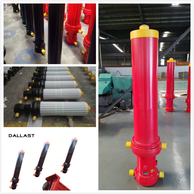 Custom Dump Truck Telescopic Cylinder  Single Acting , Multi Stage Hydraulic Cylinder