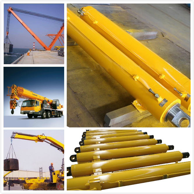 Double Acting Chrome Welded 2 Earring Crane Hydraulic Lift Cylinder