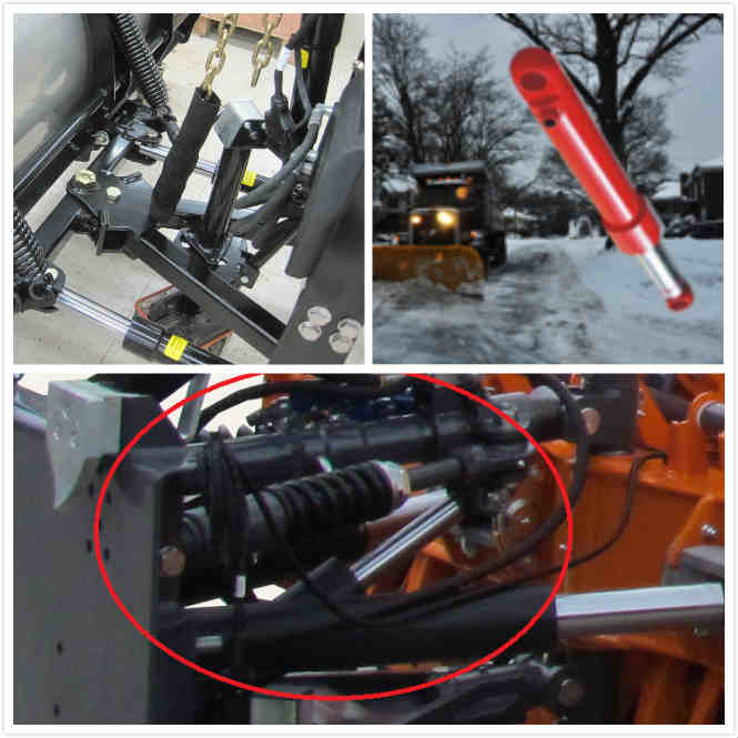 Plunger Hollow Rod Piston Type Hydraulic Cylinder Single Acting for Snow Plow