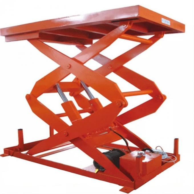 Fork Lifting Double Acting Hydraulic Cylinder Unloading Platform  ISO9001-2009 Certification