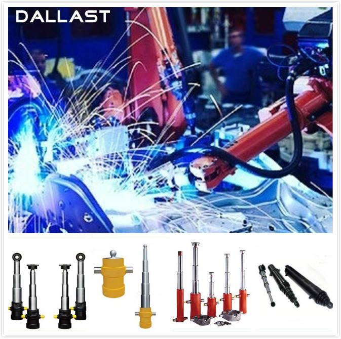 Welded Industrial Hydraulic Cylinders Single Acting Telescopic Lifting