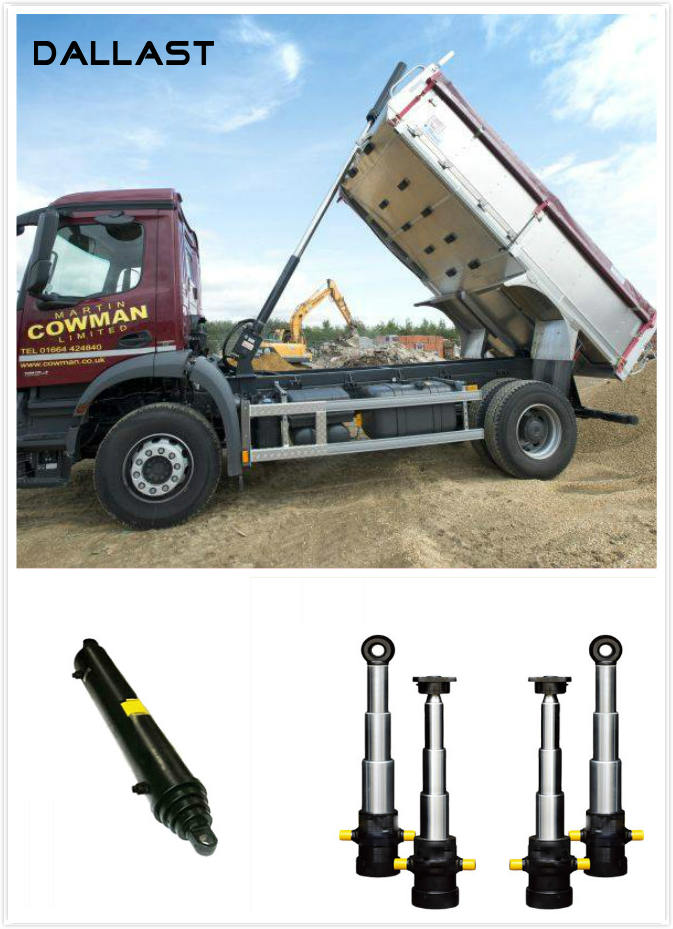 Industrial Truck Single Acting Hydraulic Ram Telescopic Lifting Welded