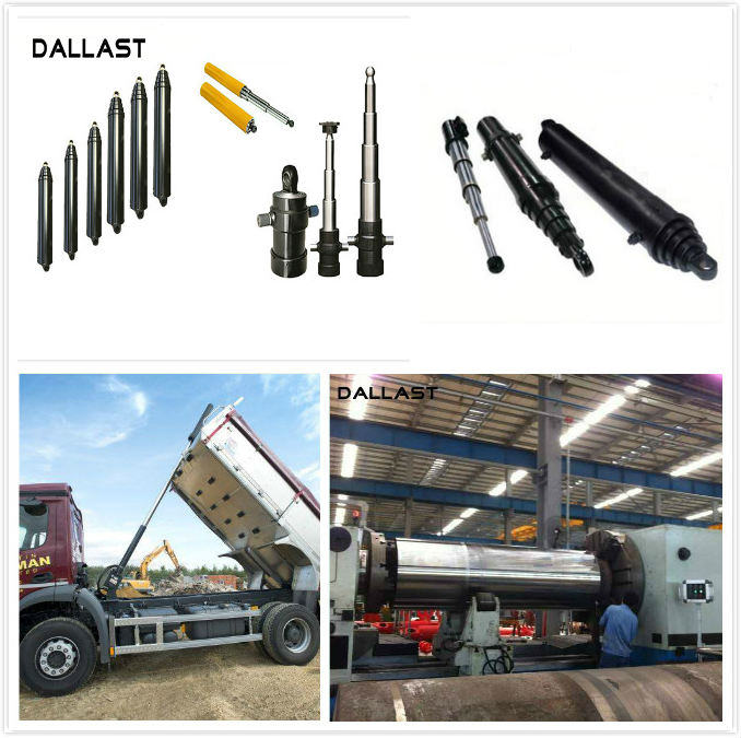Industrial Vehicle Single Acting Hydraulic Ram Telescopic Lifting Welded