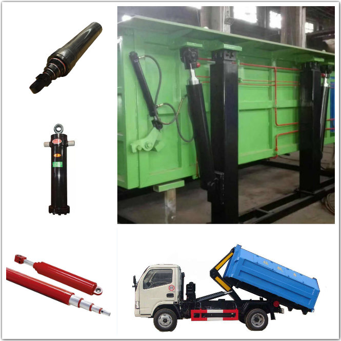 Multi Stage Double Acting Hydraulic Cylinders , 2 Stage Telescopic Hydraulic Cylinder