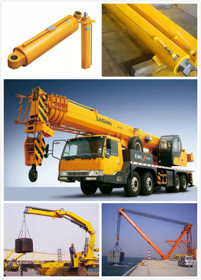 Dual Action Double Acting Hydraulic Ram 2 Way Chrome Crane  with Piston