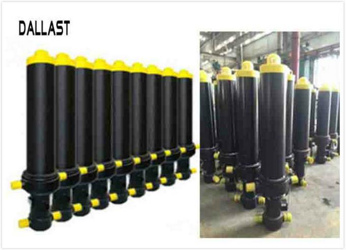 Vertical One Way Hydraulic Cylinder  Sleeve Multi Stage Telescoping for Trailer Front Lift