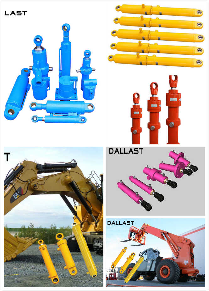 Excavator Heavy Duty Hydraulic Rams Double Acting ISO 9001 Certification