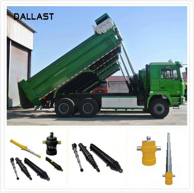 Long Stroke Hydraulic Ram Telescopic Lifting Welded Industrial Dumpx