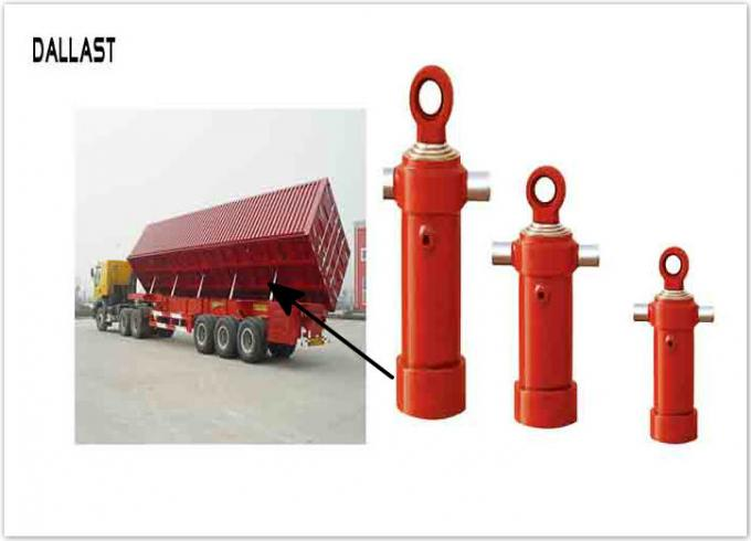 Dump Truck Hydraulic Cylinder  Trailer Side Turn Cylinder Telescoping Multi Stage Chromme Rod