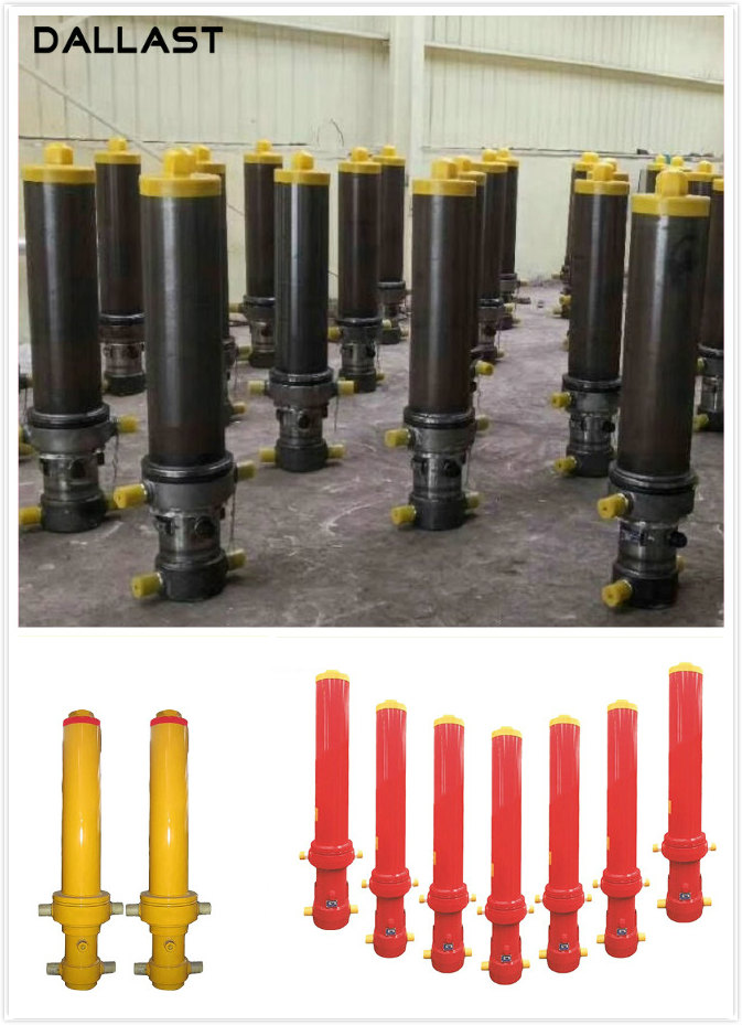 Single Acting Hydraulic Cylinder Long Stroke , Dump Truck Hydraulic Ram