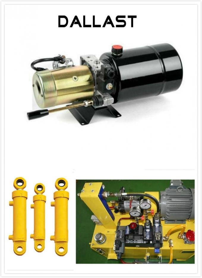 DC Horizontal 12V Hydraulic Power Pack with Steel Tank for Agricultural Machine