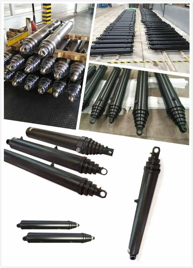Multi Stage Telescopic Hydraulic Ram Oil Cylinders Single Acting Agricultural Farm Truck