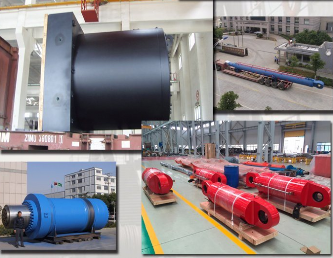 Heat Treatment Double Acting Hydraulic Ram Piston Cylinder Industrial Application