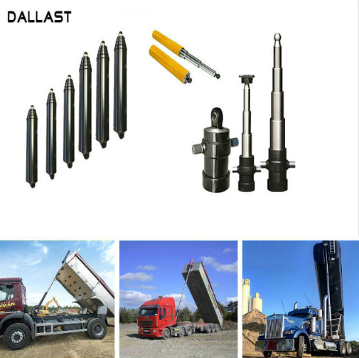 Single Acting FC Sleeve Multi Stage Telescopic Hydraulic Cylinder For Dump Truck